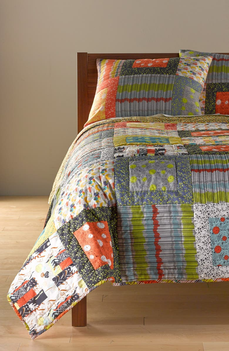 RIZZY HOME 'Felicity' Quilt, Main, color, MULTI YELLOW