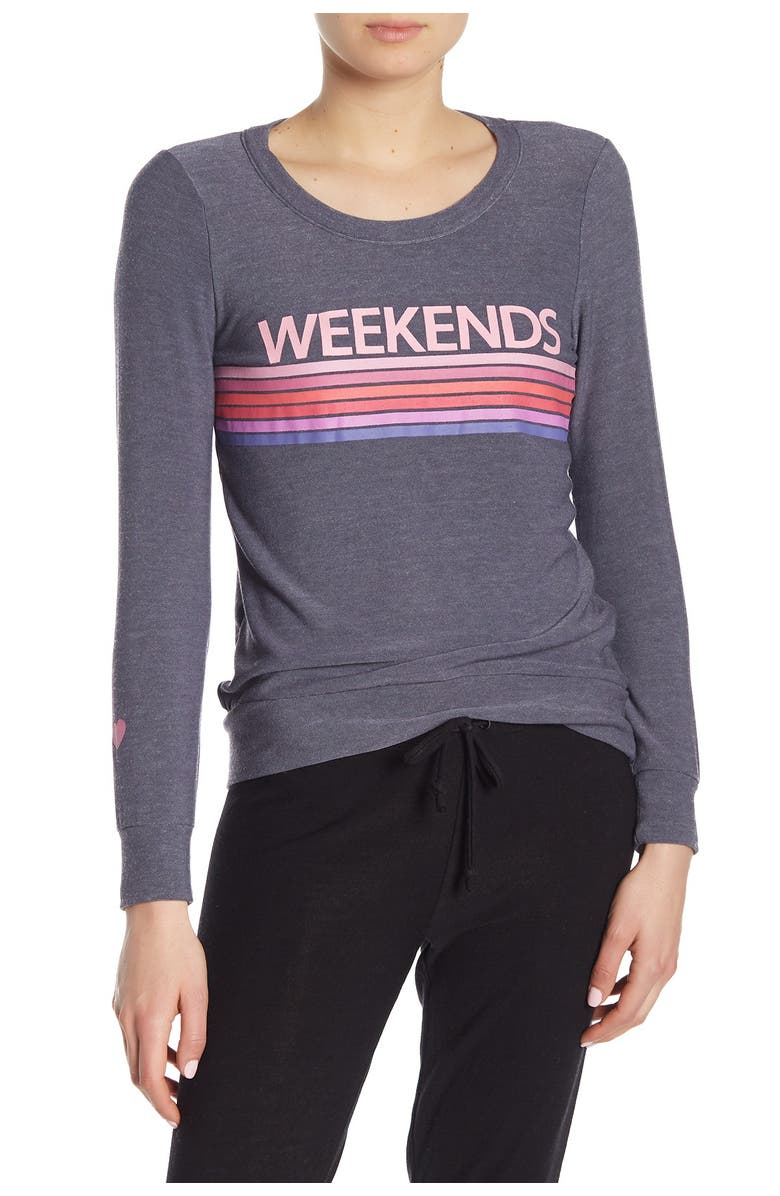 CHASER Long Sleeve Pullover, Main, color, BLUE JAY