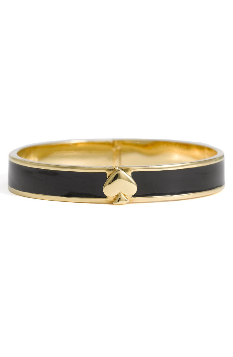 KATE SPADE NEW YORK 'spade' hinged bangle, Main, color, 001