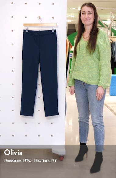 Slouchy Tencel<sup>®</sup> Lyocell Blend Ankle Pants, sales video thumbnail