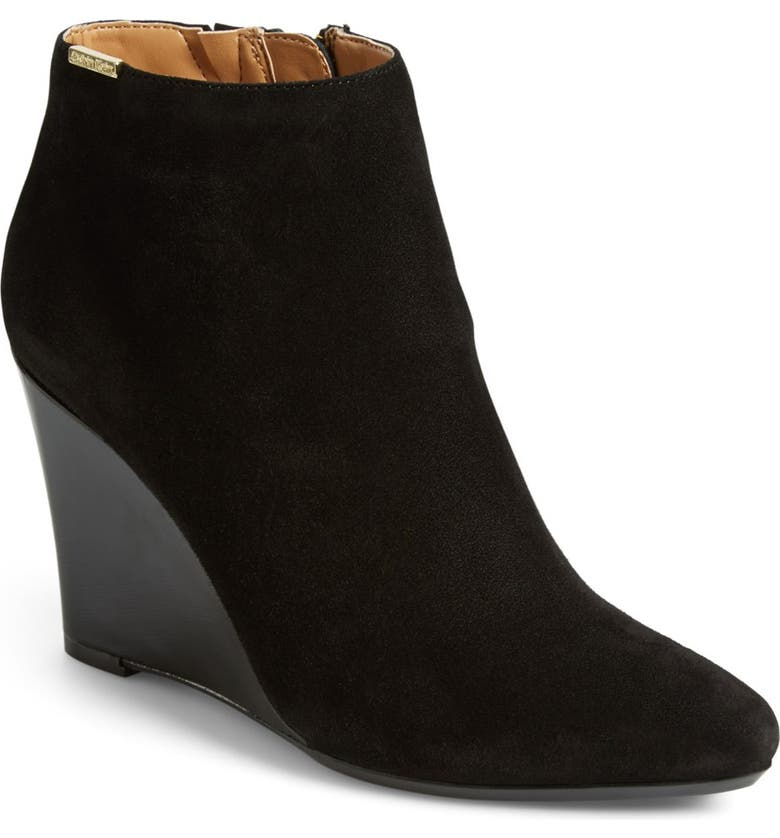 CALVIN KLEIN 'Charlaine' Wedge Bootie, Main, color, 001