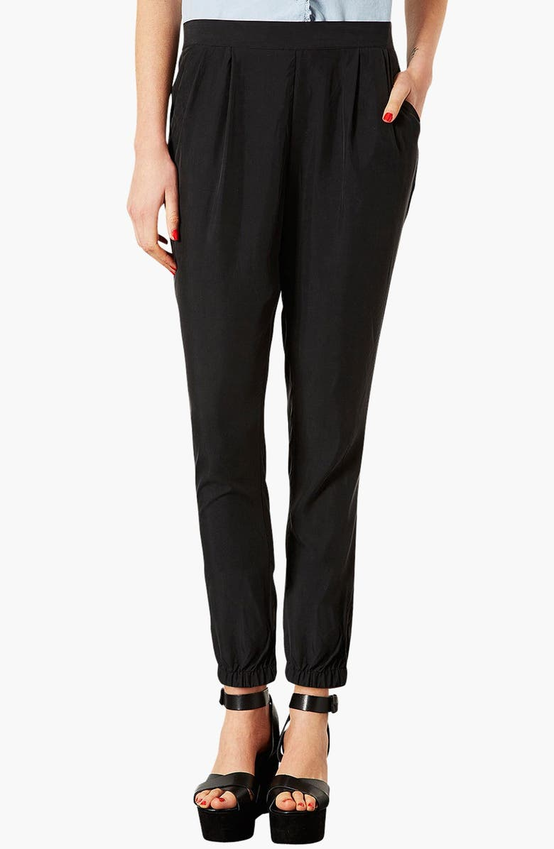TOPSHOP Relaxed Pants, Main, color, Black