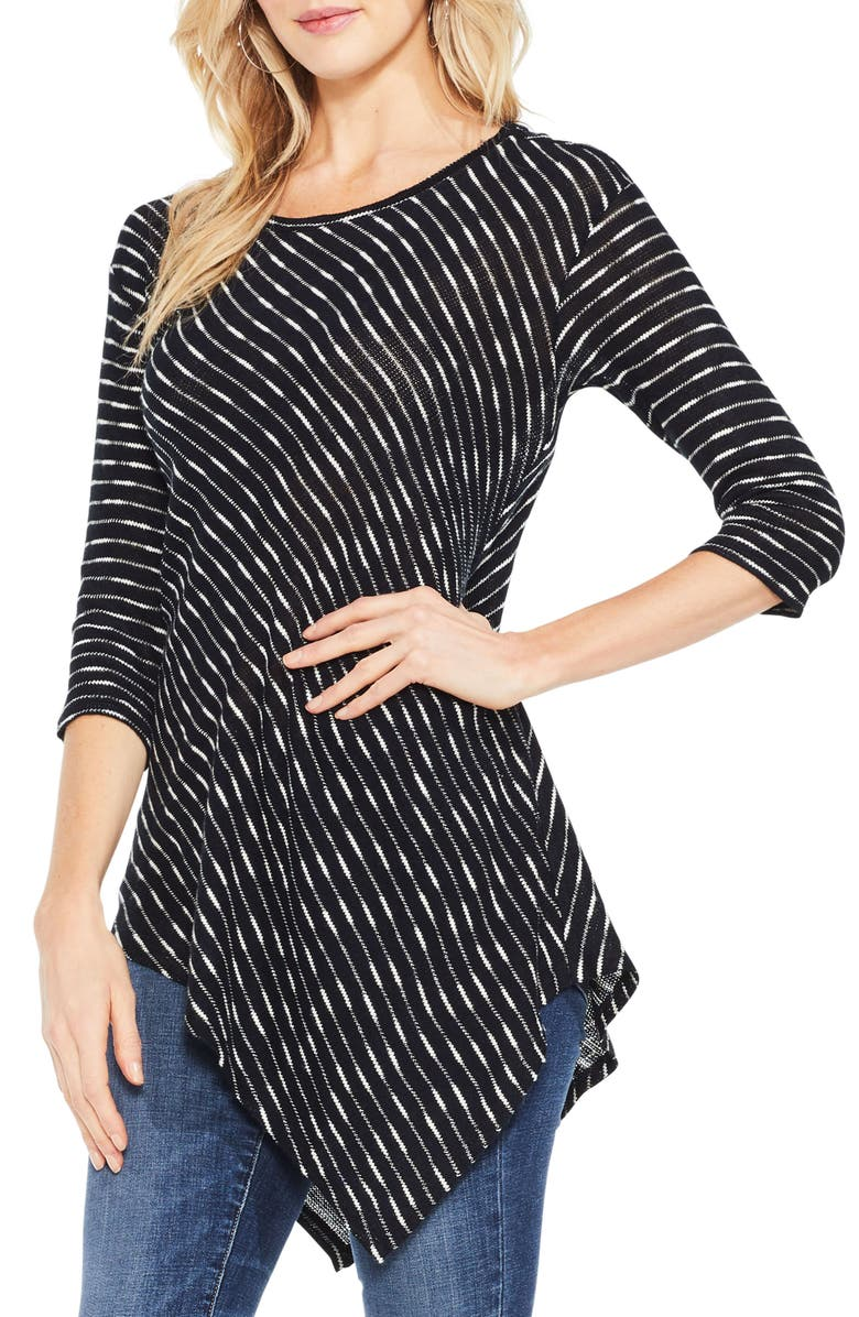 TWO BY VINCE CAMUTO Asymmetrical Stripe Top, Main, color, 060