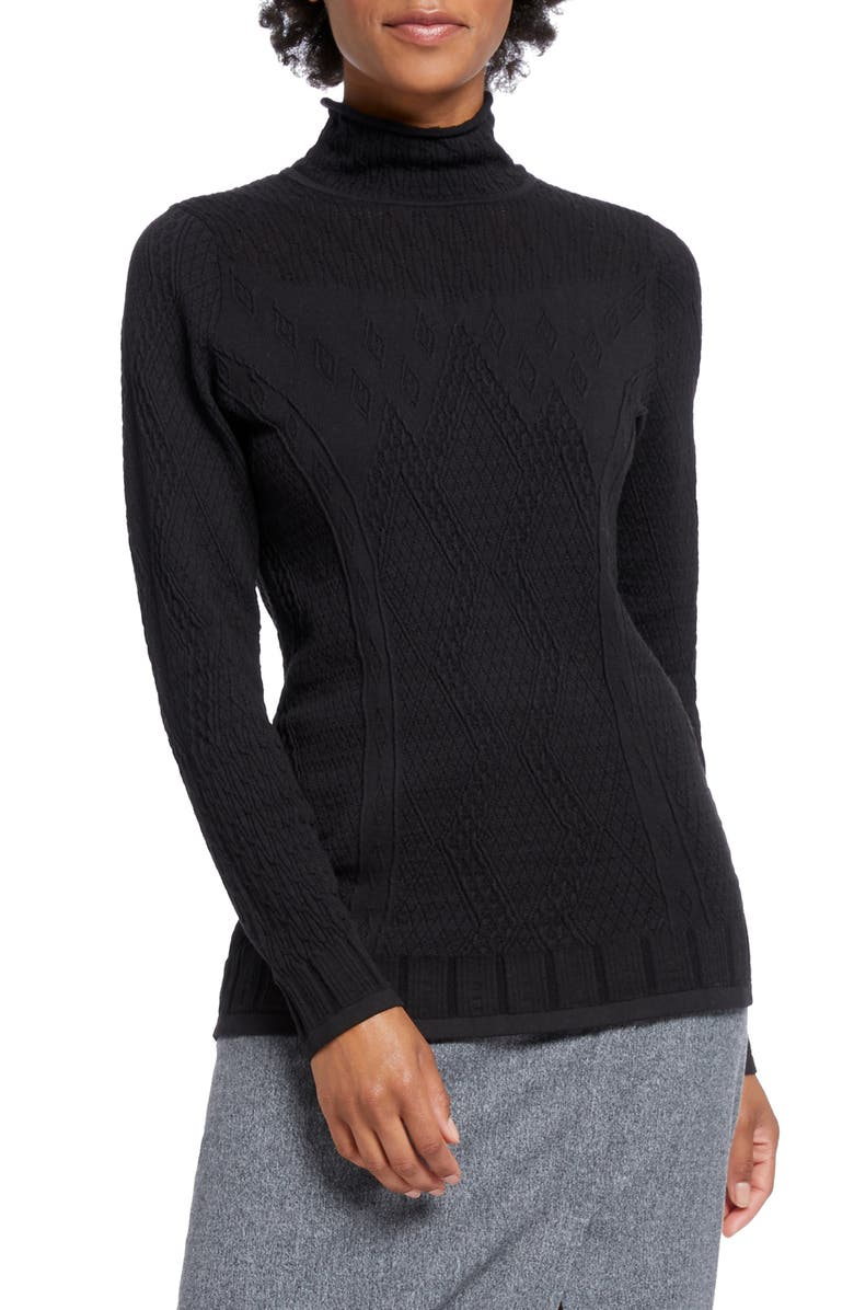 NIC+ZOE Flash Pointelle Detail Sweater, Main, color, 004