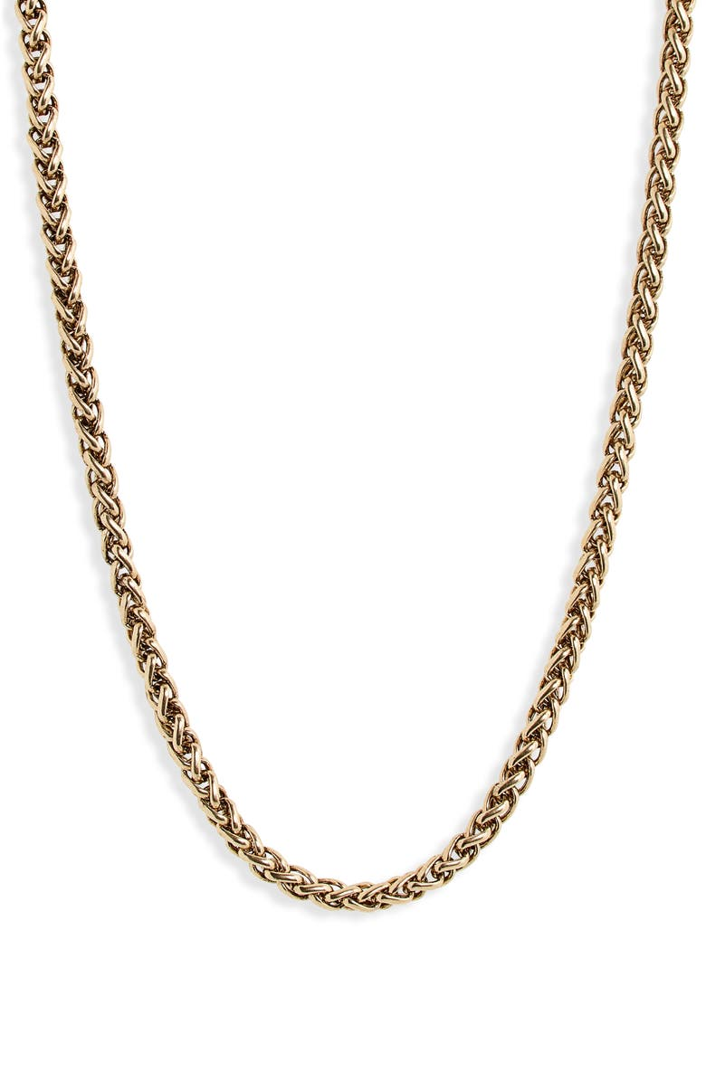 NORDSTROM Wheat Chain Necklace, Main, color, GOLD