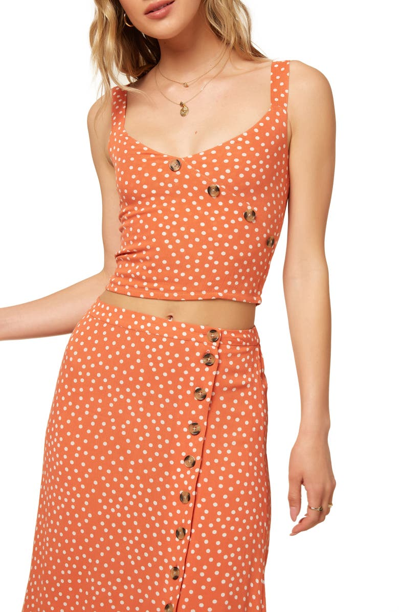 ONEILL Manning Woven Tank Top, Main, color, MECCA ORANGE