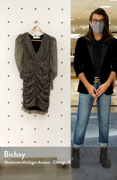 the Label Ruched Long Sleeve Minidress, sales video thumbnail