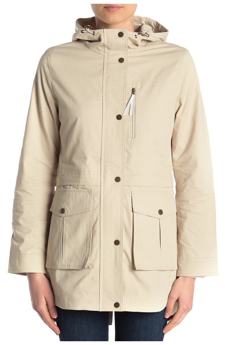 FRENCH CONNECTION Drawcord Hooded Anorak, Main, color, SAFARI