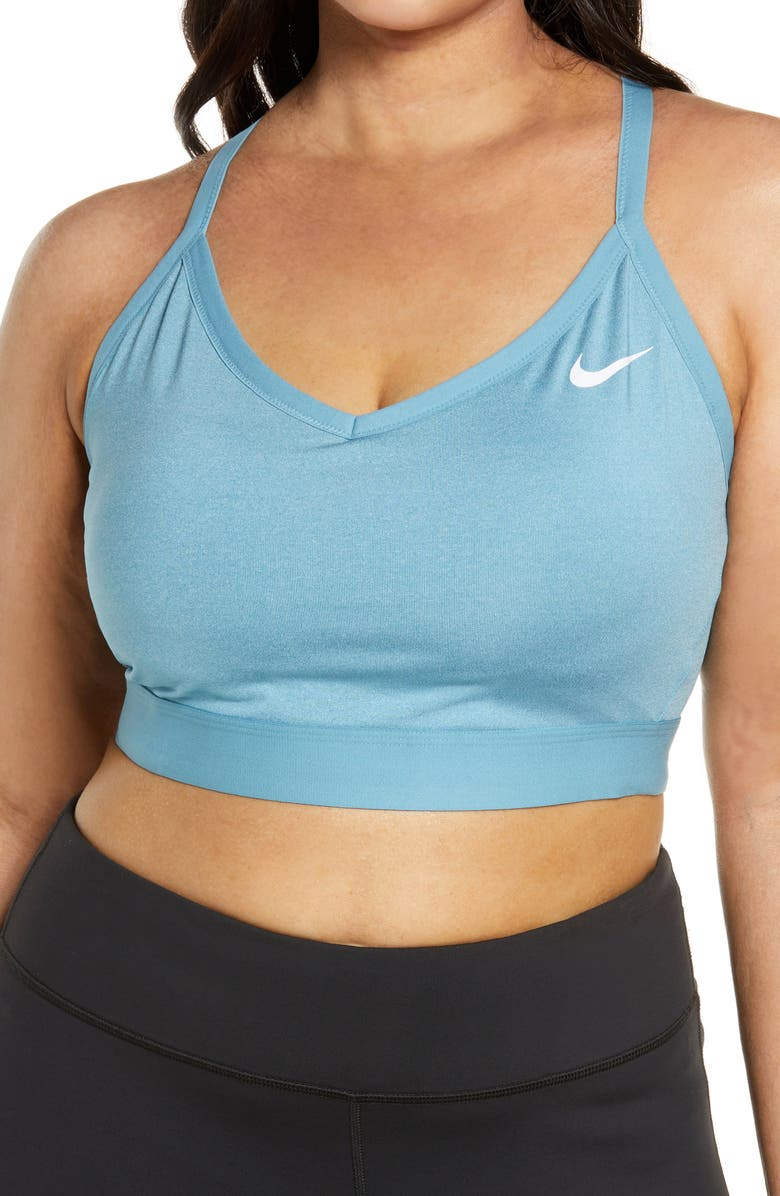 NIKE Indy Sports Bra, Main, color, PURE/ CERULEAN/ WHITE