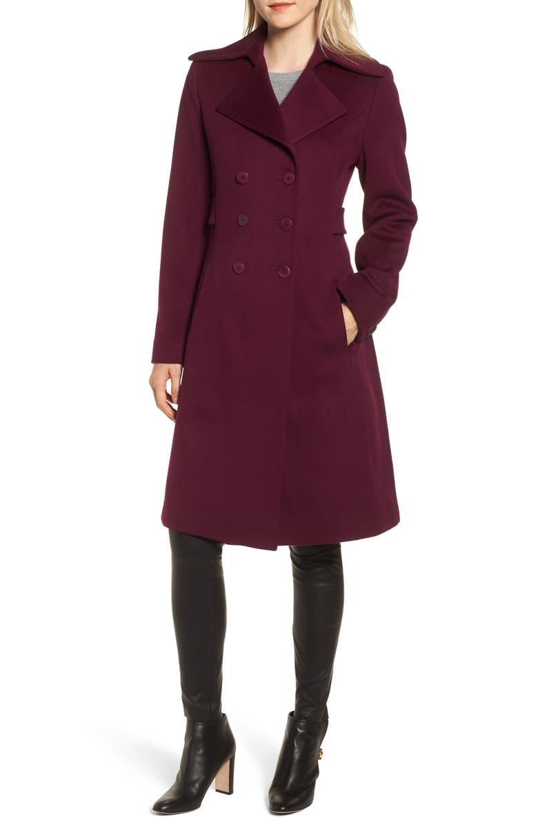 FLEURETTE Double Breasted Loro Piana Wool Coat, Main, color, 509