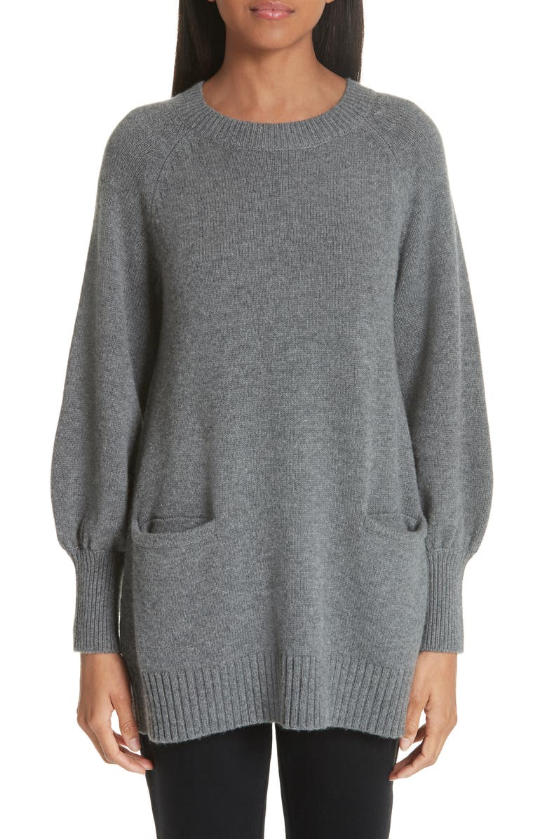 CO Wool & Cashmere Tunic Sweater, Main, color, 030