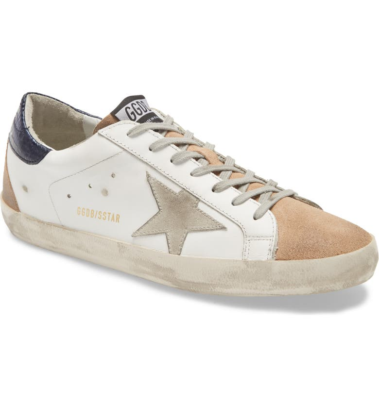 GOLDEN GOOSE Super-Star Sneaker, Main, color, WHITE LEATHER/ NUDE SUEDE/ ICE