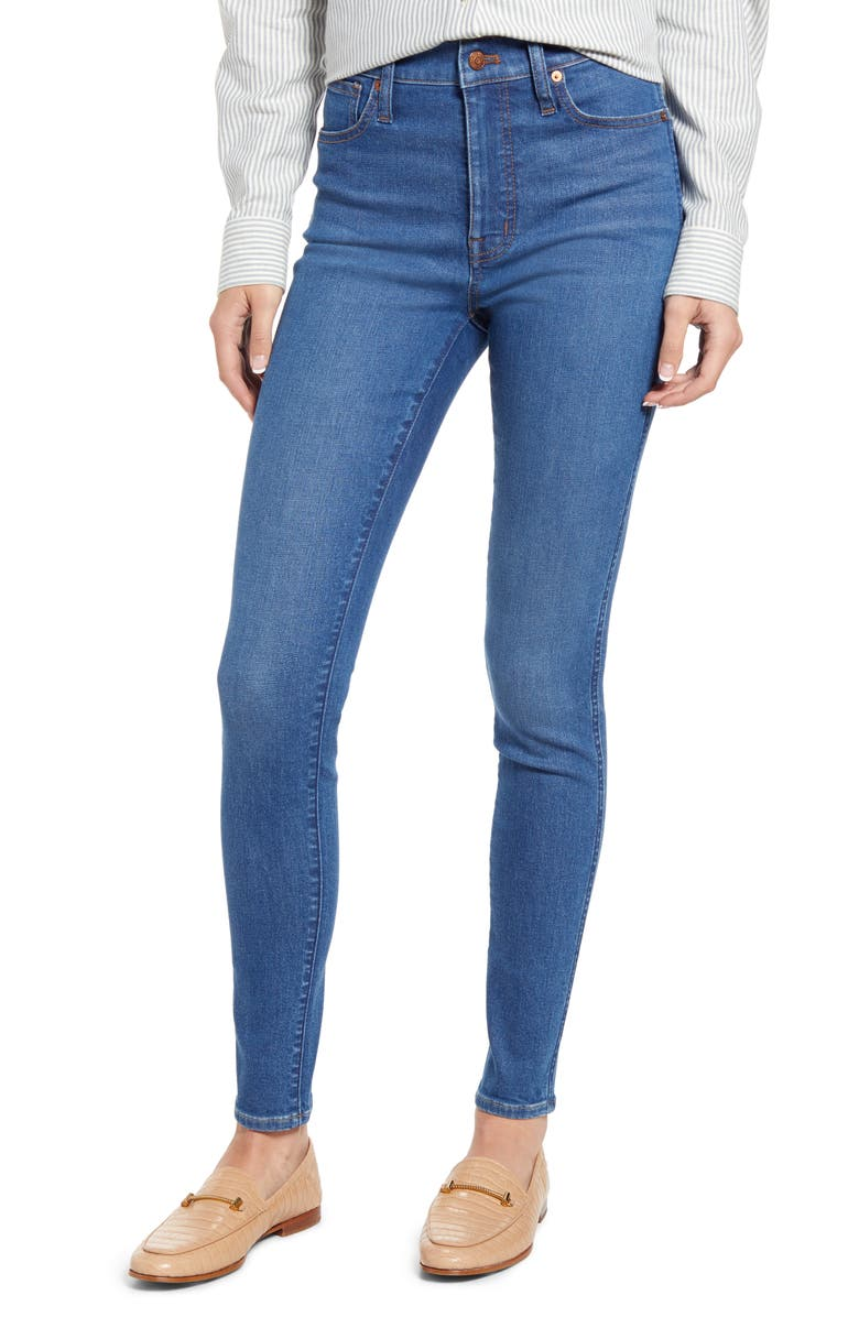 MADEWELL 11-Inch High Waist Skinny Jeans, Main, color, HELMSFORD WASH