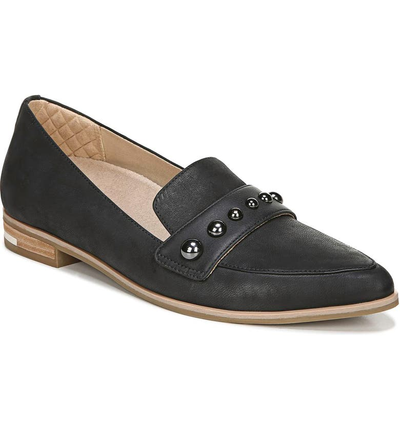 DR. SCHOLL'S Faxon Studded Loafer, Main, color, 001
