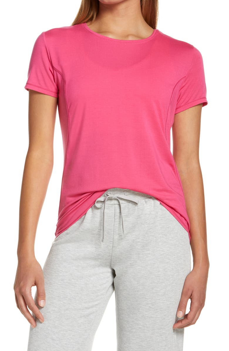 ZELLA Energy Performance T-Shirt, Main, color, PINK ROUGE