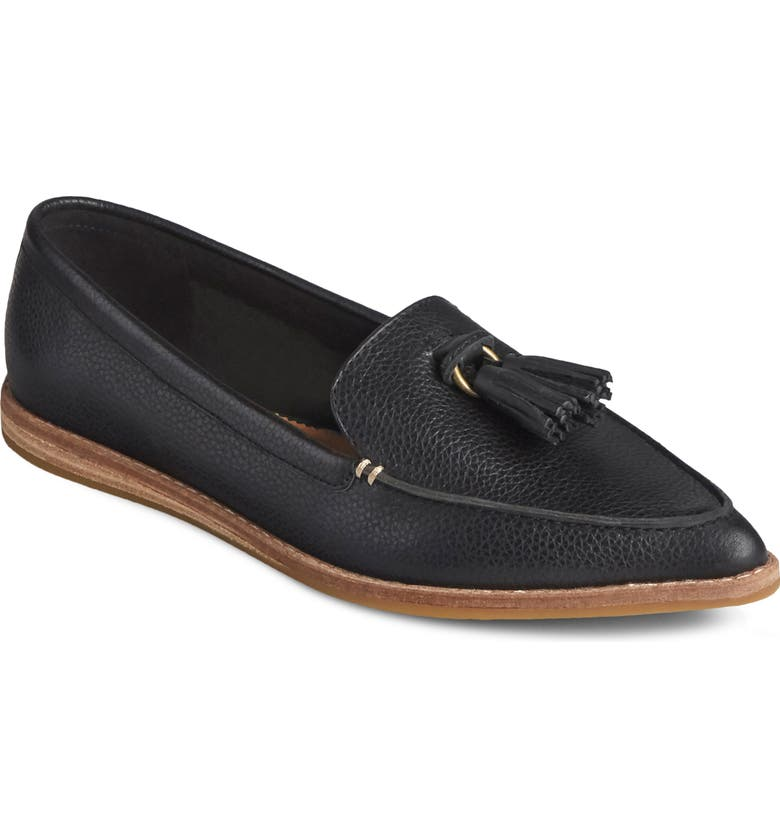 SPERRY Saybrook Loafer, Main, color, BLACK LEATHER