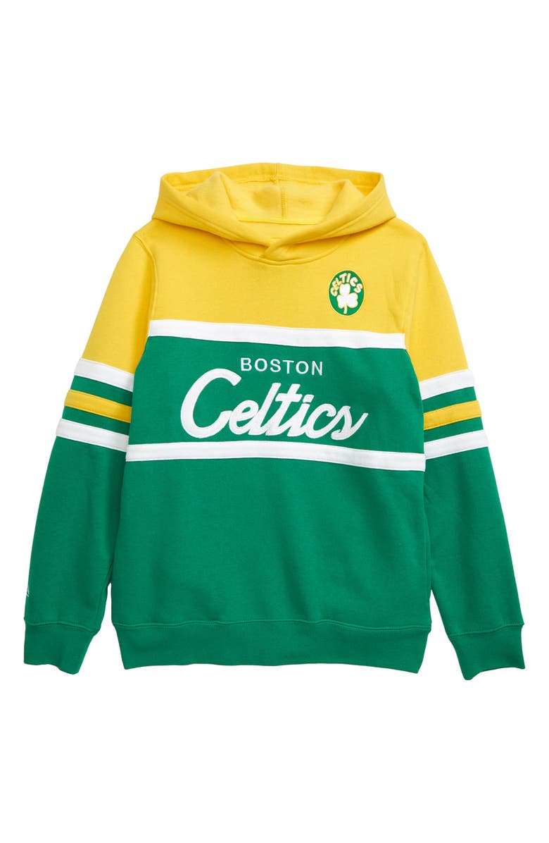 MITCHELL & NESS Boston Celtics Coach Hoodie, Main, color, 700