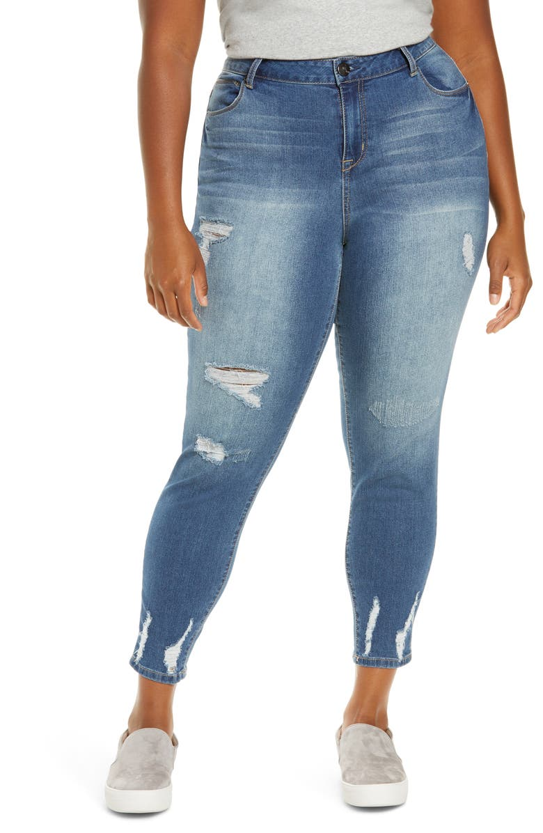 1822 DENIM Ripped Skinny Ankle Jeans, Main, color, LUCA