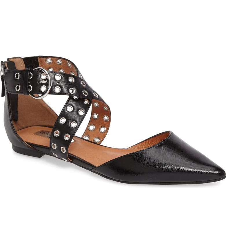HALOGEN<SUP>®</SUP> Molly Pointy Toe Flat, Main, color, 001