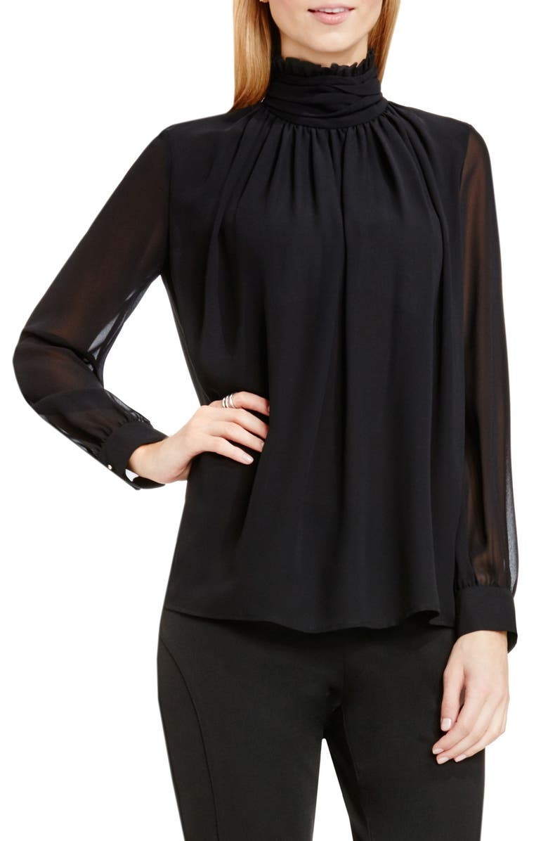 VINCE CAMUTO Ruffle Collar Blouse, Main, color, 006
