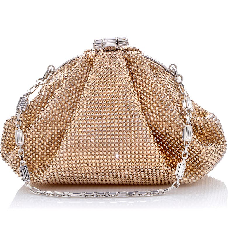 JUDITH LEIBER Couture Enchanted Crystal Minaudière, Main, color, SILVER CHAMPAGNE