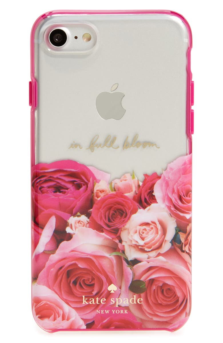 KATE SPADE NEW YORK in full bloom iPhone 7 case, Main, color, 650