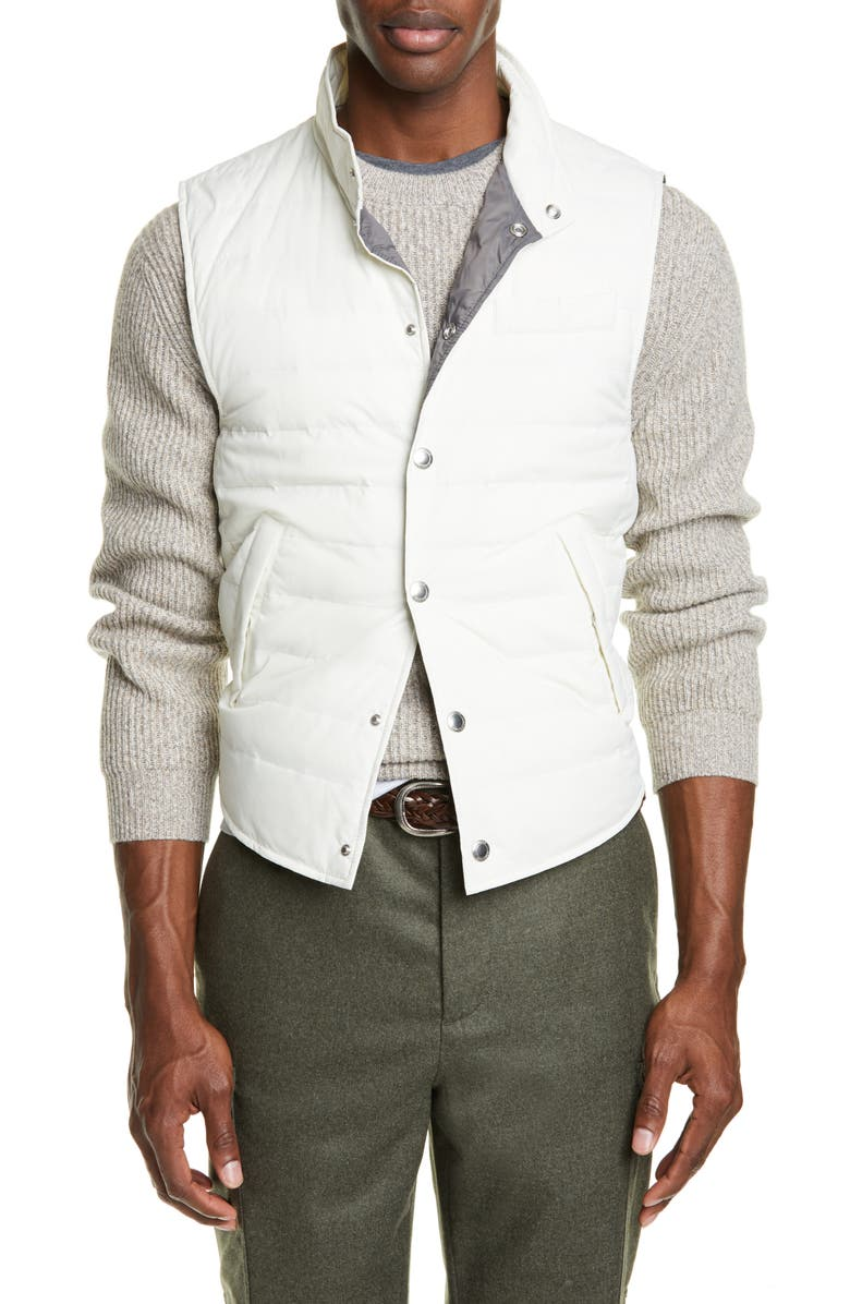 BRUNELLO CUCINELLI Down Vest, Main, color, 199