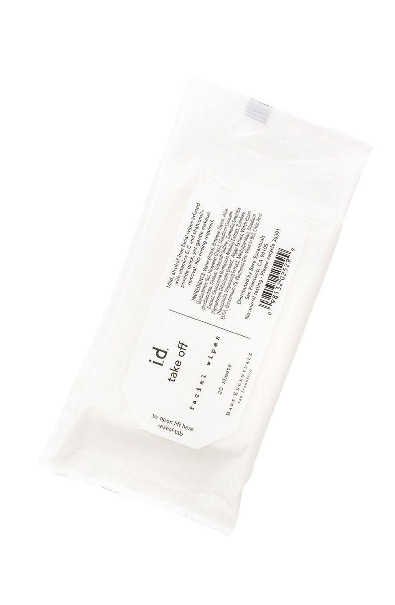 BAREMINERALS<SUP>®</SUP> Makeup Remover Wipes, Main, color, No Color