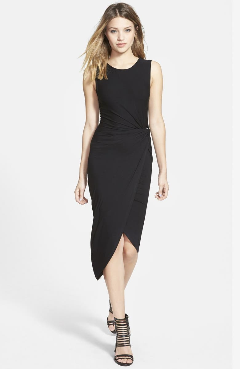 ASTR THE LABEL ASTR Knotted Body-Con Dress, Main, color, BLACK