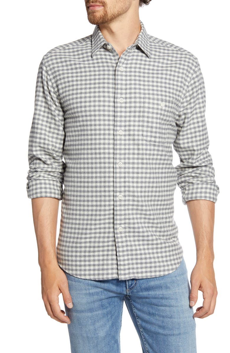 FAHERTY Stretch Seaview Regular Fit Check Flannel Button-Up Shirt, Main, color, 900