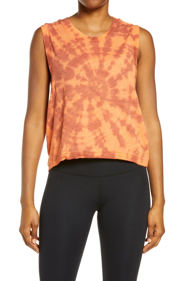 FREE PEOPLE FP MOVEMENT Free People Movement Love Tie Dye Tank, Main, color, MAI TAI COMBO