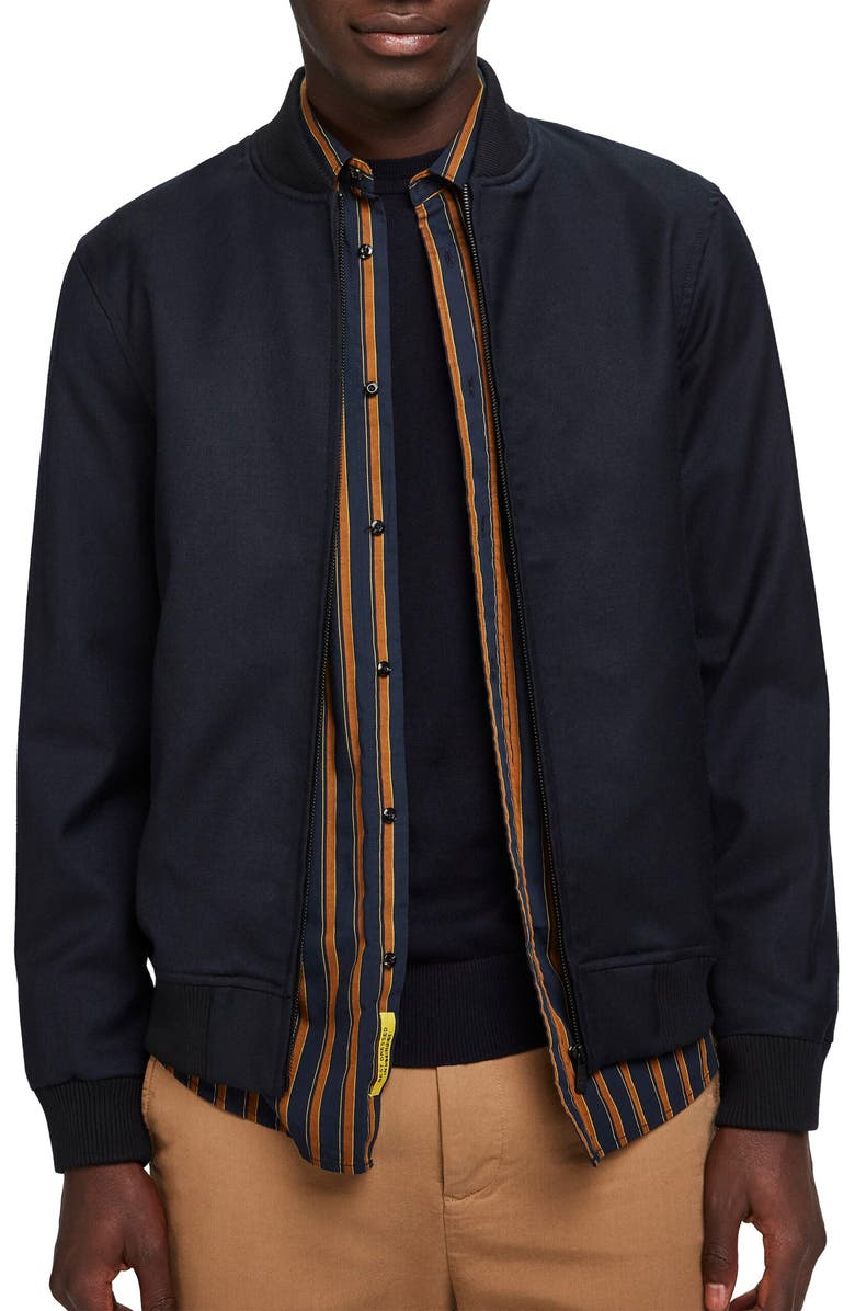 SCOTCH & SODA Chic Solid Bomber Jacket, Main, color, 401