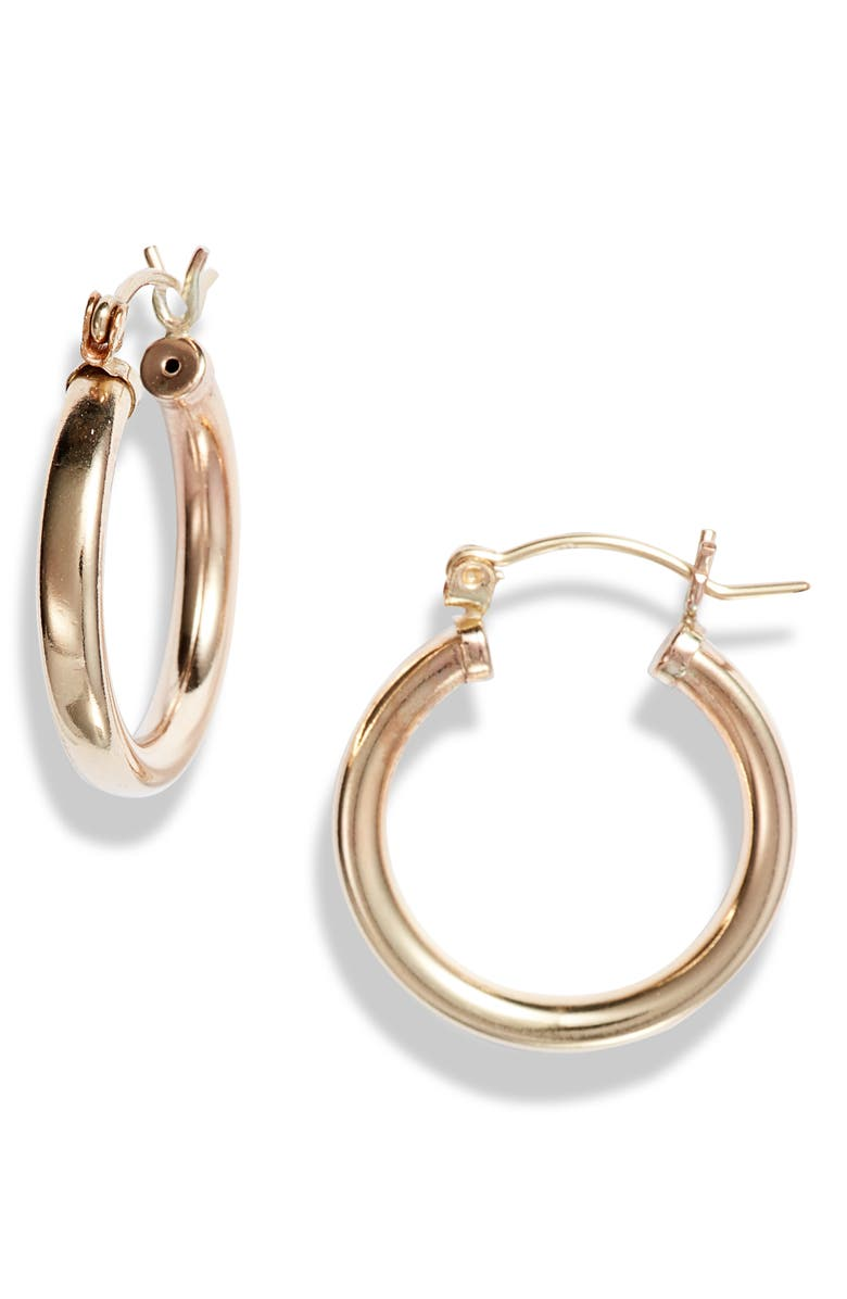 NASHELLE Muse 14K-Gold Fill Large Hoop Earrings, Main, color, Gold