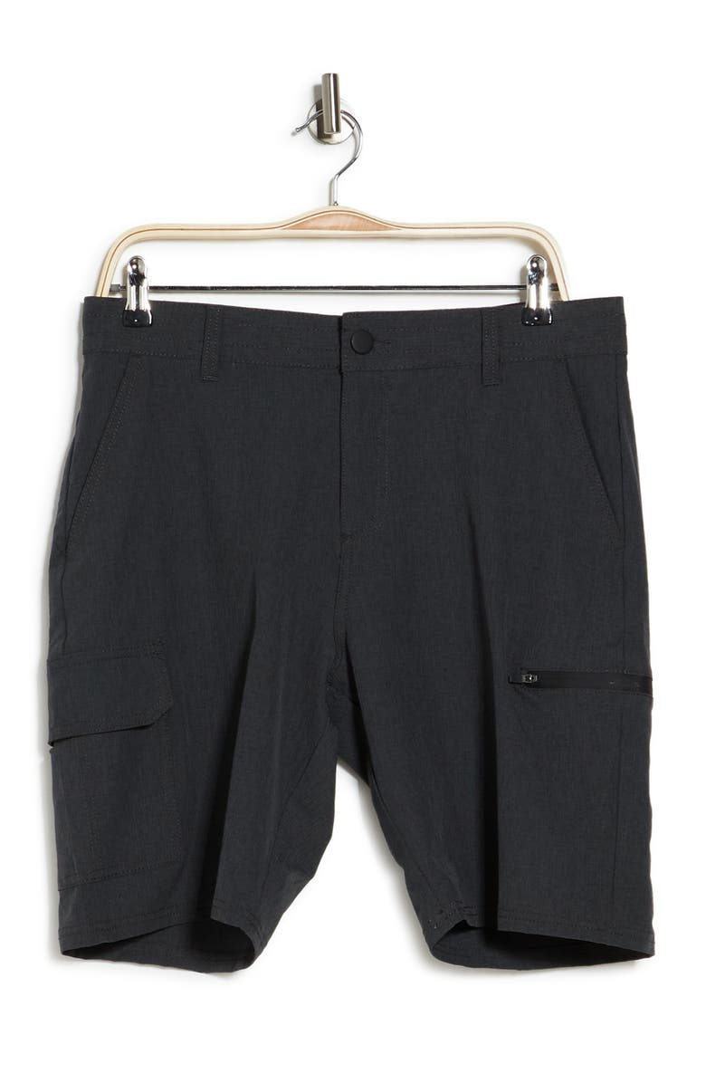 BURNSIDE Stretch Cargo Shorts, Main, color, CHARCOAL