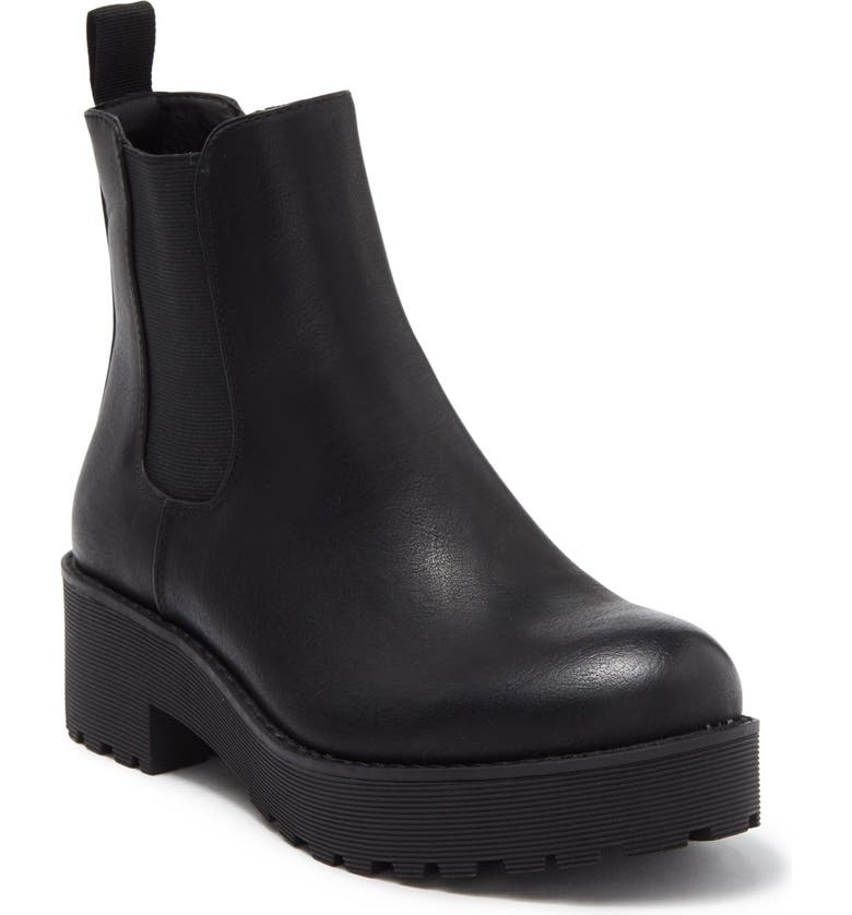 DIRTY LAUNDRY Chelsea Boot, Main, color, BLACK