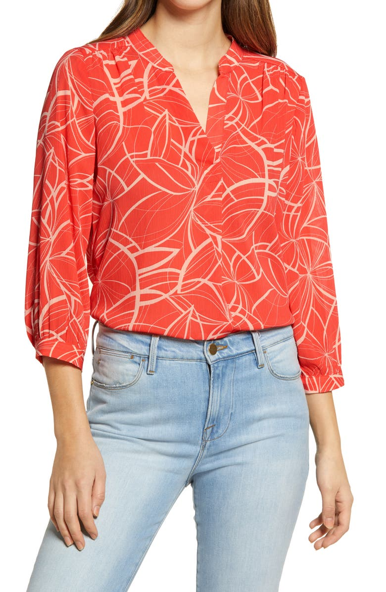 VINCE CAMUTO Swirl Movement Blouse, Main, color, 950