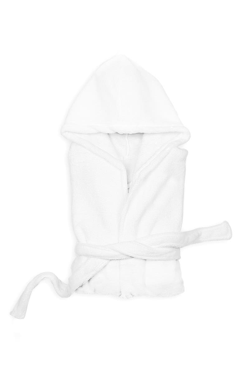 CATHY'S CONCEPTS Personalized Plush Hooded Spa Robe, Main, color, 100