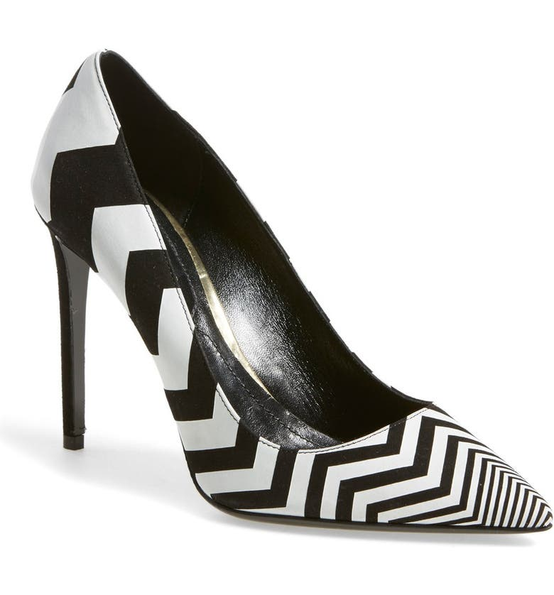 NICHOLAS KIRKWOOD Chevron Pointy Toe Pump, Main, color, 001