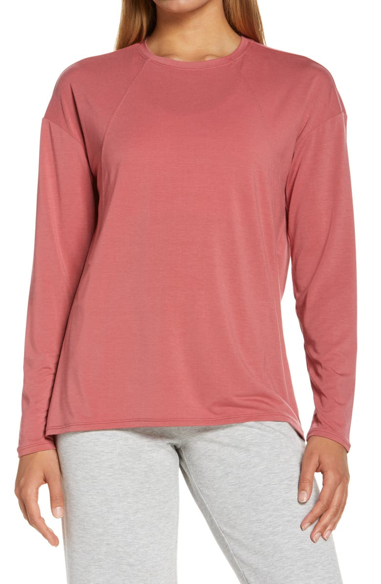 ZELLA Mindful Studio T-Shirt, Main, color, PINK MAUVE