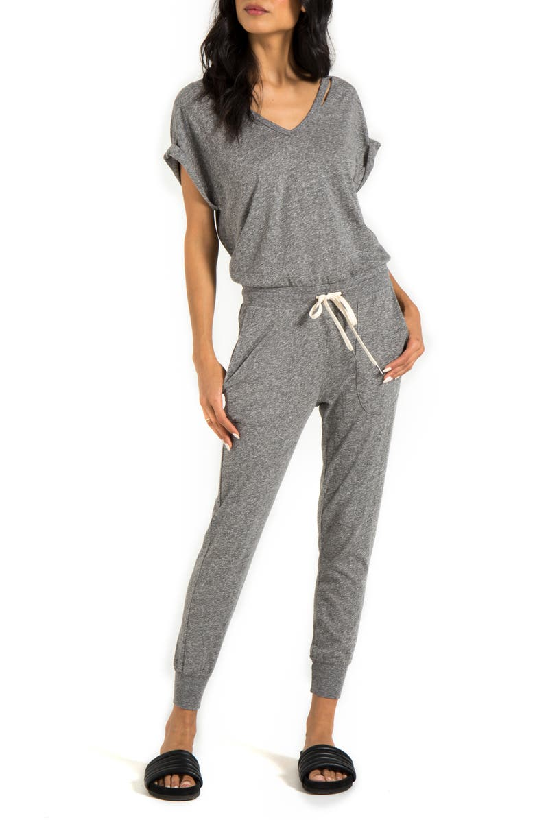 N:PHILANTHROPY Space Deconstructed Jumpsuit, Main, color, HEATHER GREY