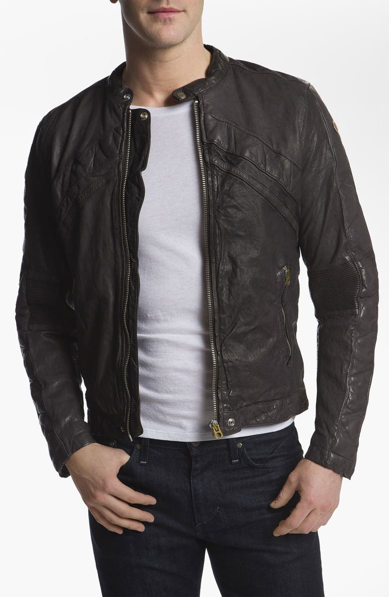 DIESEL<SUP>®</SUP> 'Lumi' Leather Jacket, Main, color, 034