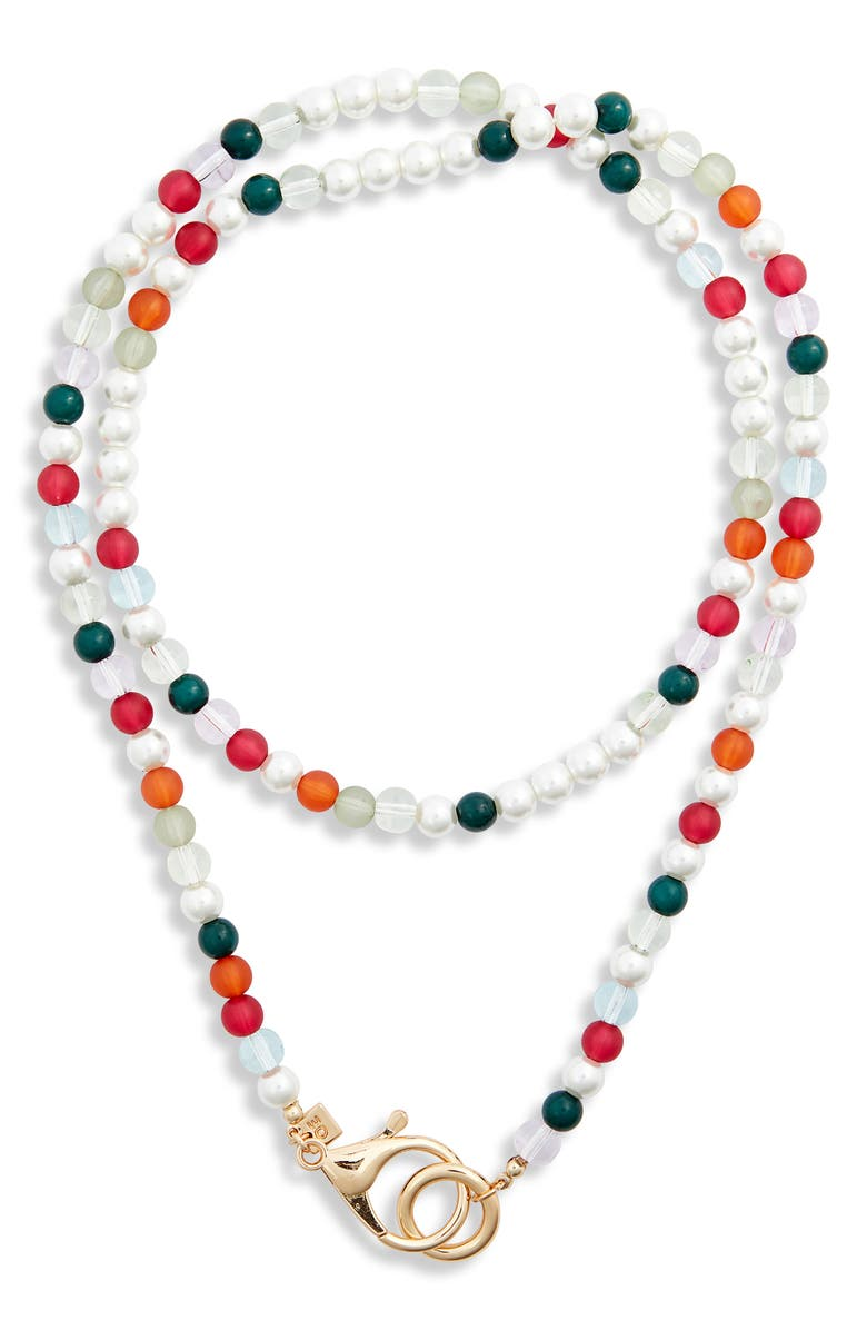 OPEN EDIT Beaded Wrap Necklace, Main, color, BRIGHT MULTI- GOLD