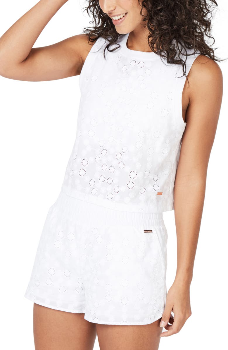SWEATY BETTY Eden Perforated Performance Tank, Main, color, 100