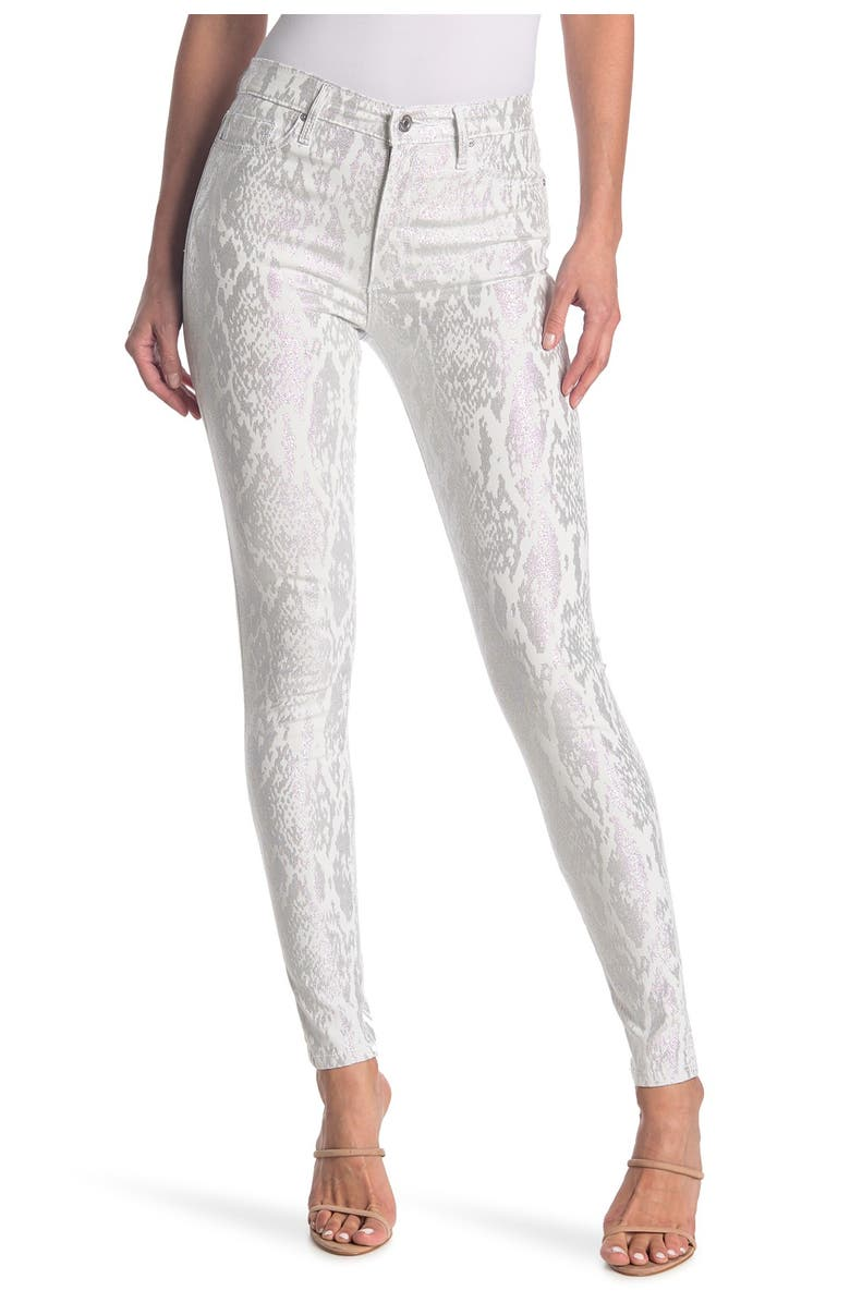 BLACK ORCHID Gisele Snake Print High Rise Super Skinny Jeans, Main, color, CENTER OF ATTENTION