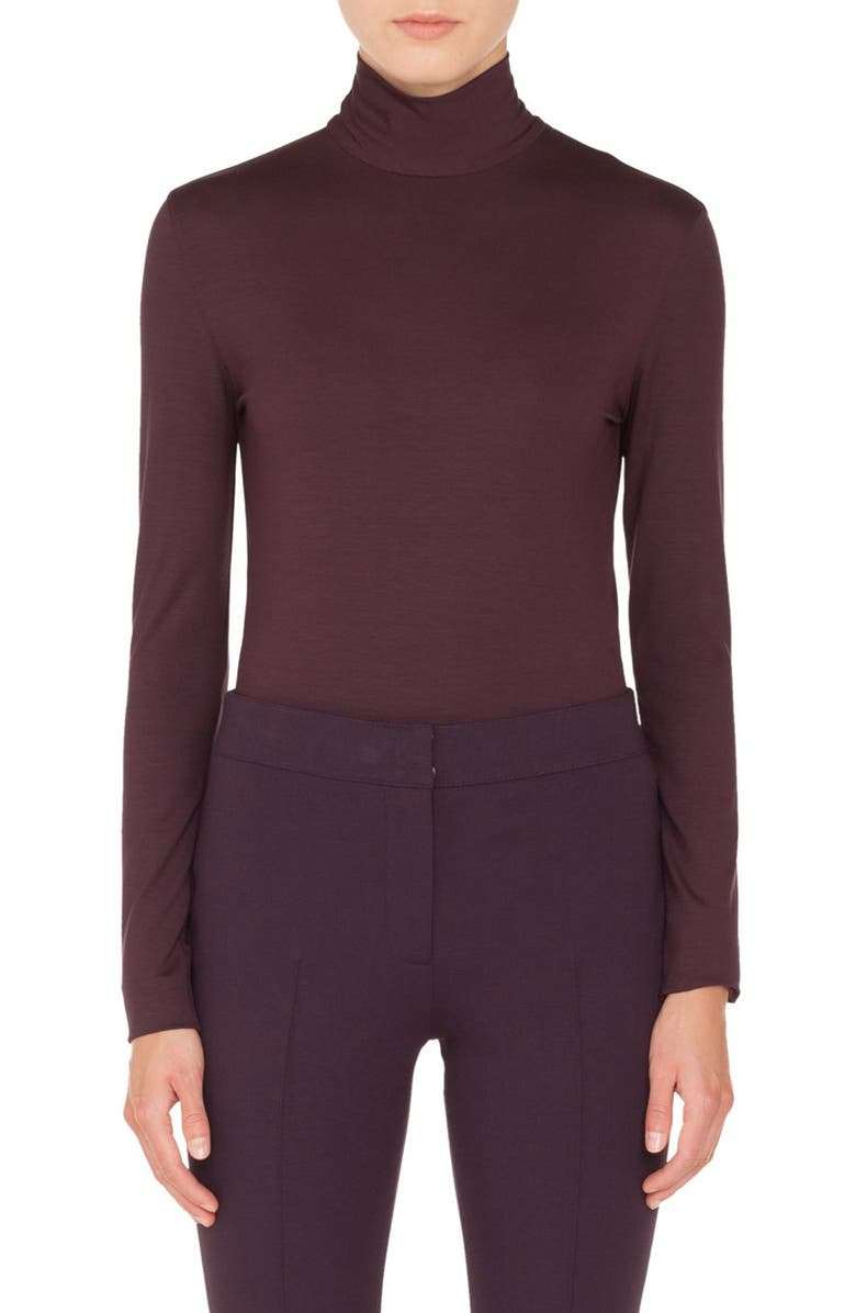 AKRIS PUNTO Stretch Modal Turtleneck, Main, color, 930