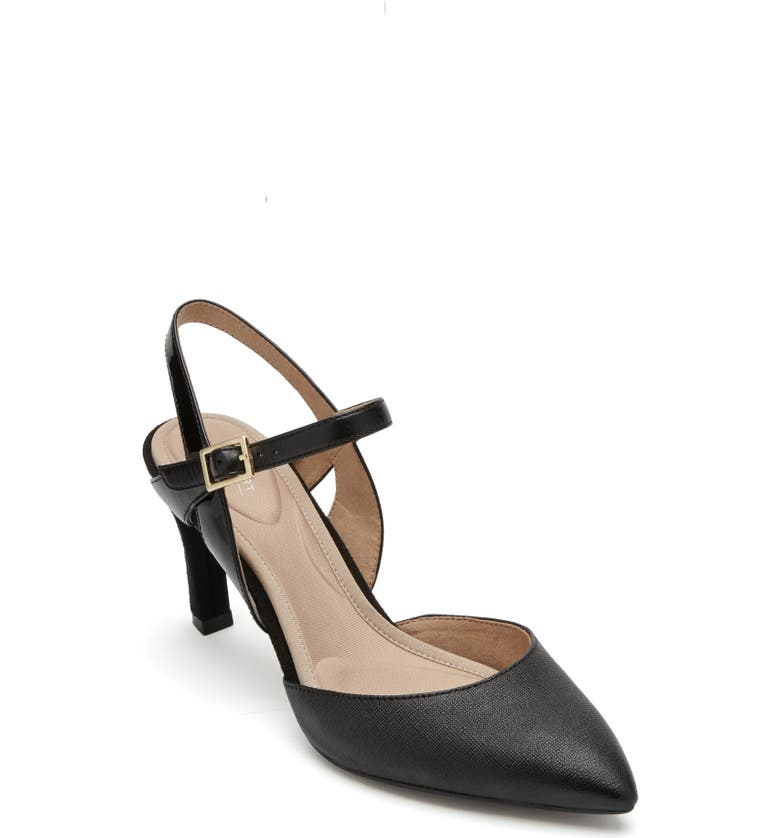 ROCKPORT Sheehan Pump, Main, color, BLACK LEATHER