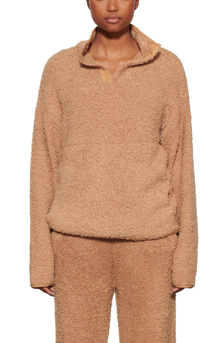SKIMS Cozy Knit Pullover, Main, color, CAMEL