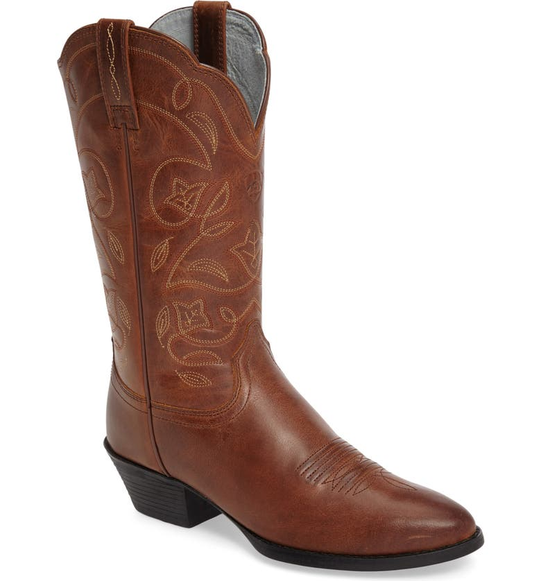 ARIAT Heritage Western R-Toe Boot, Main, color, RUSSET REBEL LEATHER