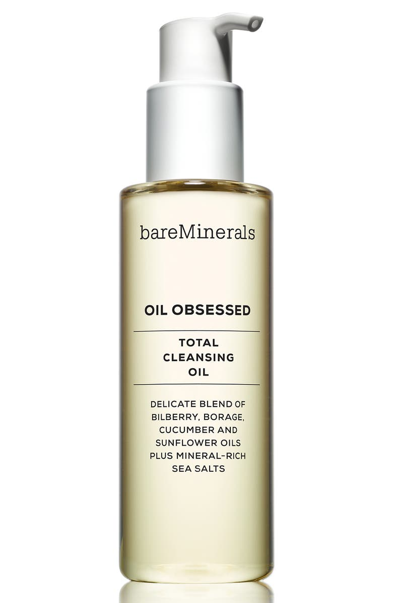 BAREMINERALS<SUP>®</SUP> Oil Obsessed Total Cleansing Oil, Main, color, 000