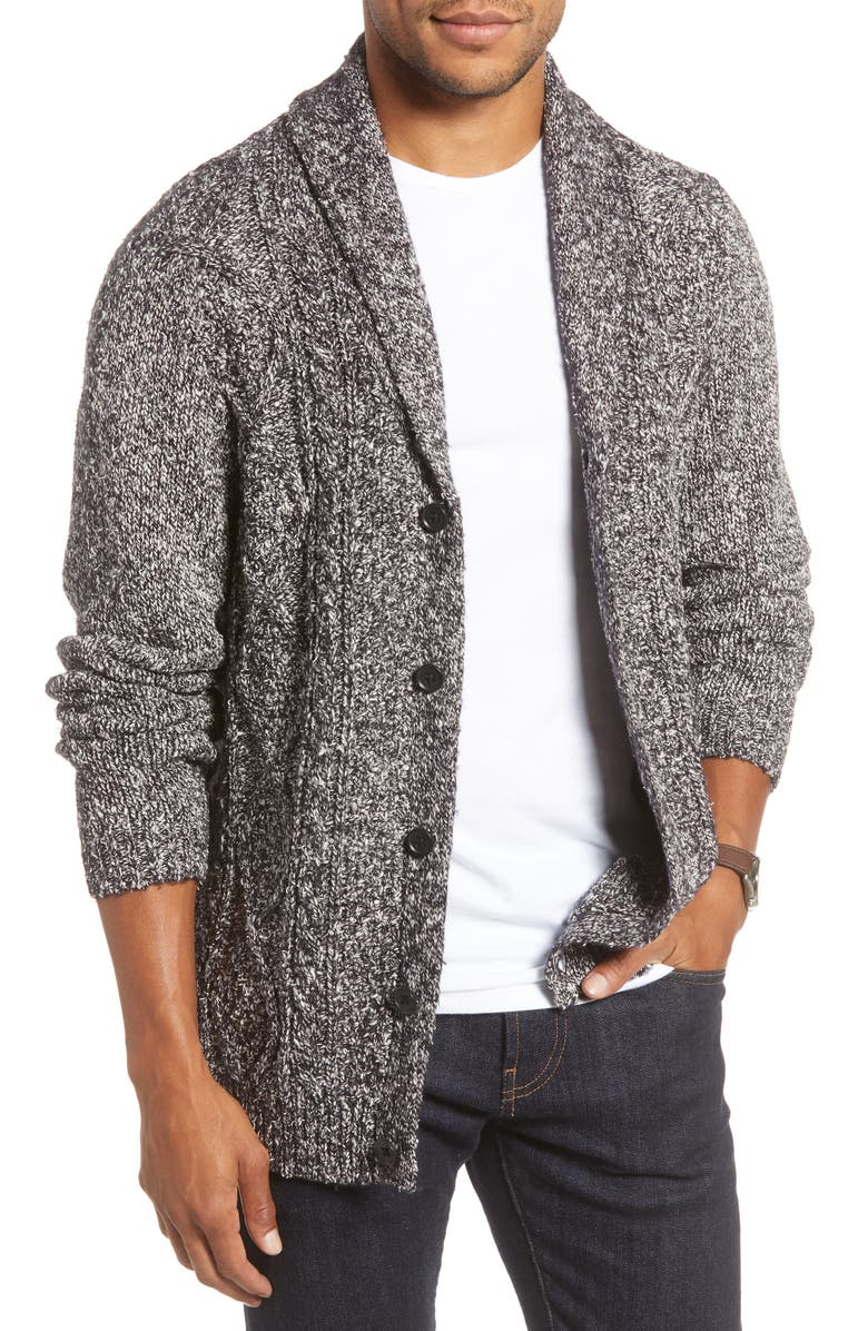 1901 Shawl Collar Cardigan, Main, color, 001